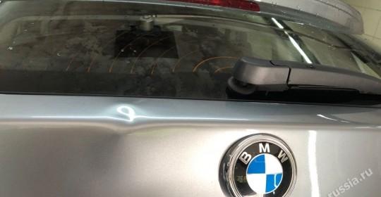 удаление вмятины на багажнике