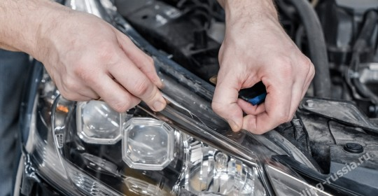 бронирование фар хонда