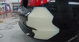 локальная покраска бампера автомобиля