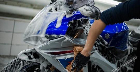 Мойка мотоцикла в Москве на Алексеевской