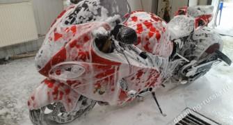 мойка мотоцикла