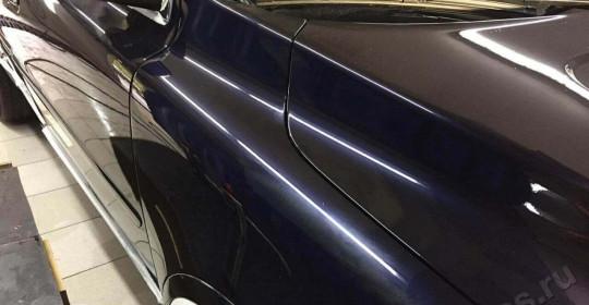 Полировка кузова Volvo XC90 и нанесение 3 слоев жидкого стекла