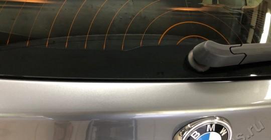 Удаление вмятин без покраски на багажнике БМВ
